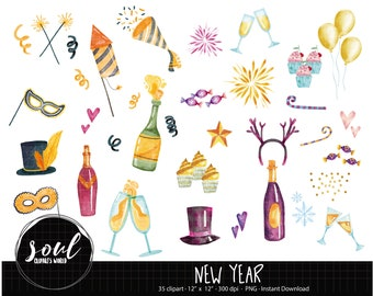 cod711 new year clipart2019 clipartscommercial useclipart setvector clipartinstant download
