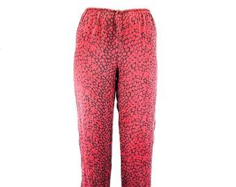 fc93363ec5abab Vintage rote und schwarze Leopardendruck-Babletrat-Leggings-Größe 10-001