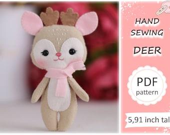 Deer Softie E-PATTERN e Pattern and instructions for fleece deer Downloadable PDF