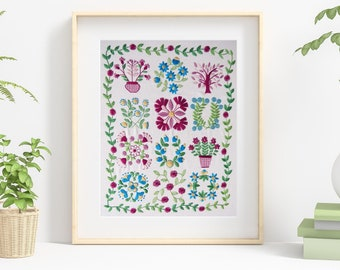 Baltimore Stitchery hand embroidery Kit, Pre printed embroidery fabric, hand embroidery supplies, choose the kit that suits you