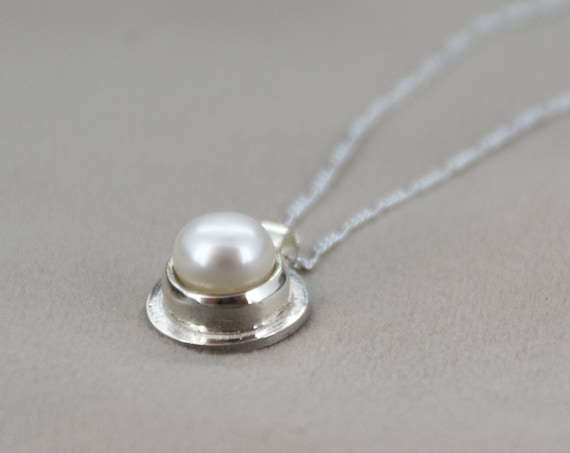 White Pearl Sterling Silver Pendant