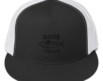 Trucker Cap Gone Fishing