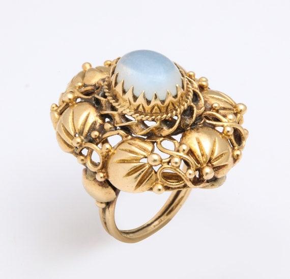 Art nouveau Moonstone ring - image 5