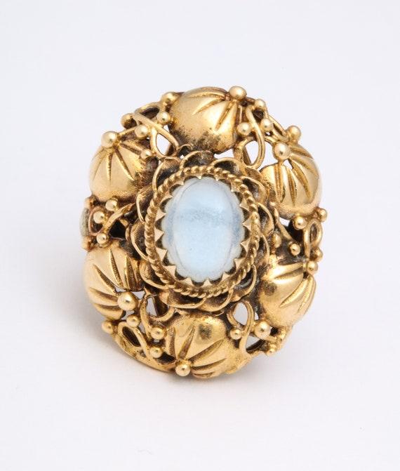 Art nouveau Moonstone ring - image 1