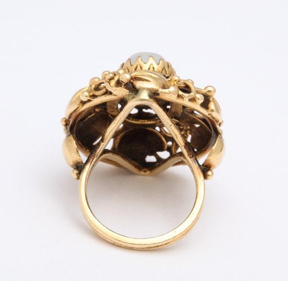Art nouveau Moonstone ring - image 3