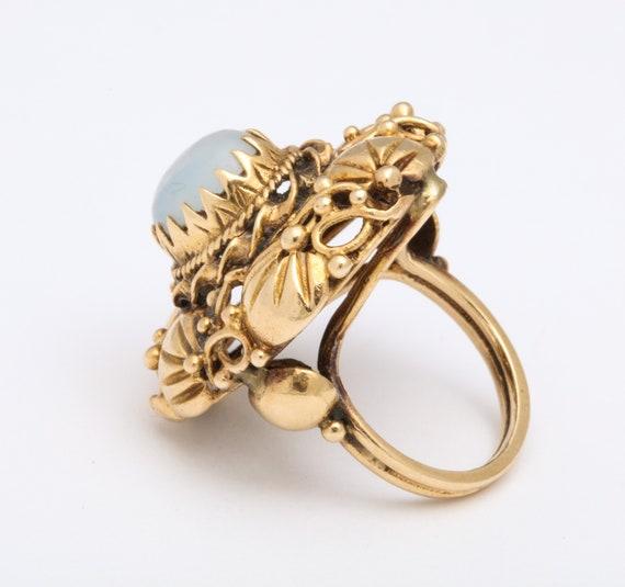 Art nouveau Moonstone ring - image 4
