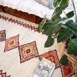 azilal rug colourful berber moroccan rug, art individuelle 210 x 128 cm