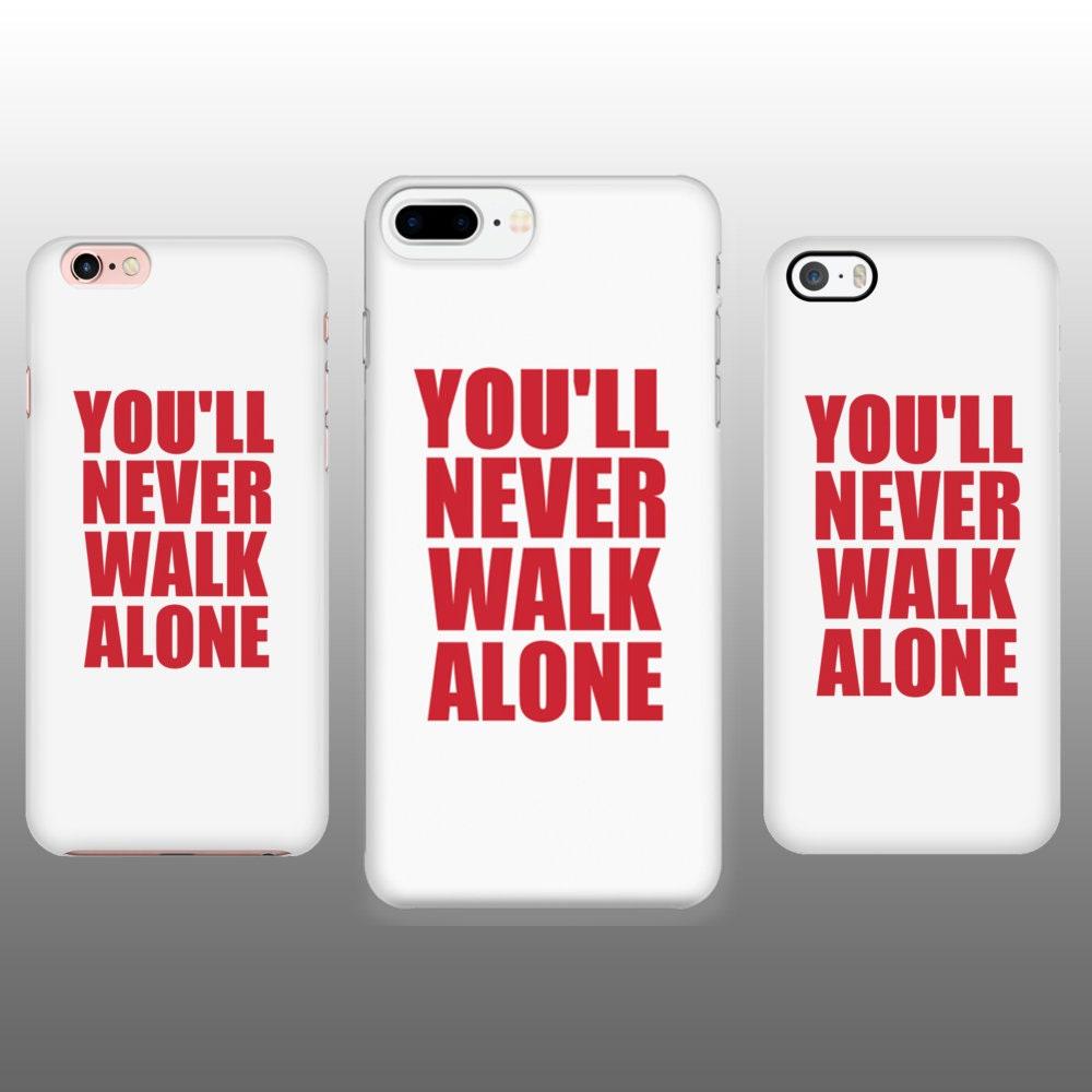 hot sale online 809f3 822de Custom phone case, YNWA iPhone 6/6s/7/8 Plus case, You'll never walk alone,  Liverpool FC white phone case, LFC phone case iPhone
