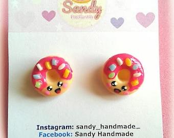 Earrings Donut Polymer Clay