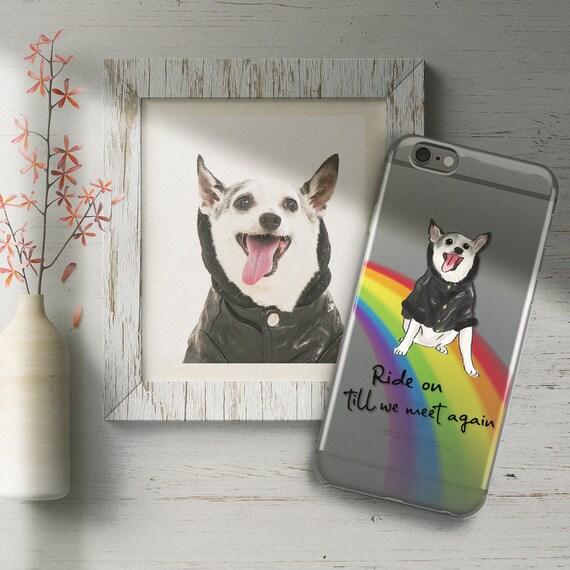 27be0b19 Pet Memorial Phone Case/Rainbow Bridge/Custom Pet   Etsy