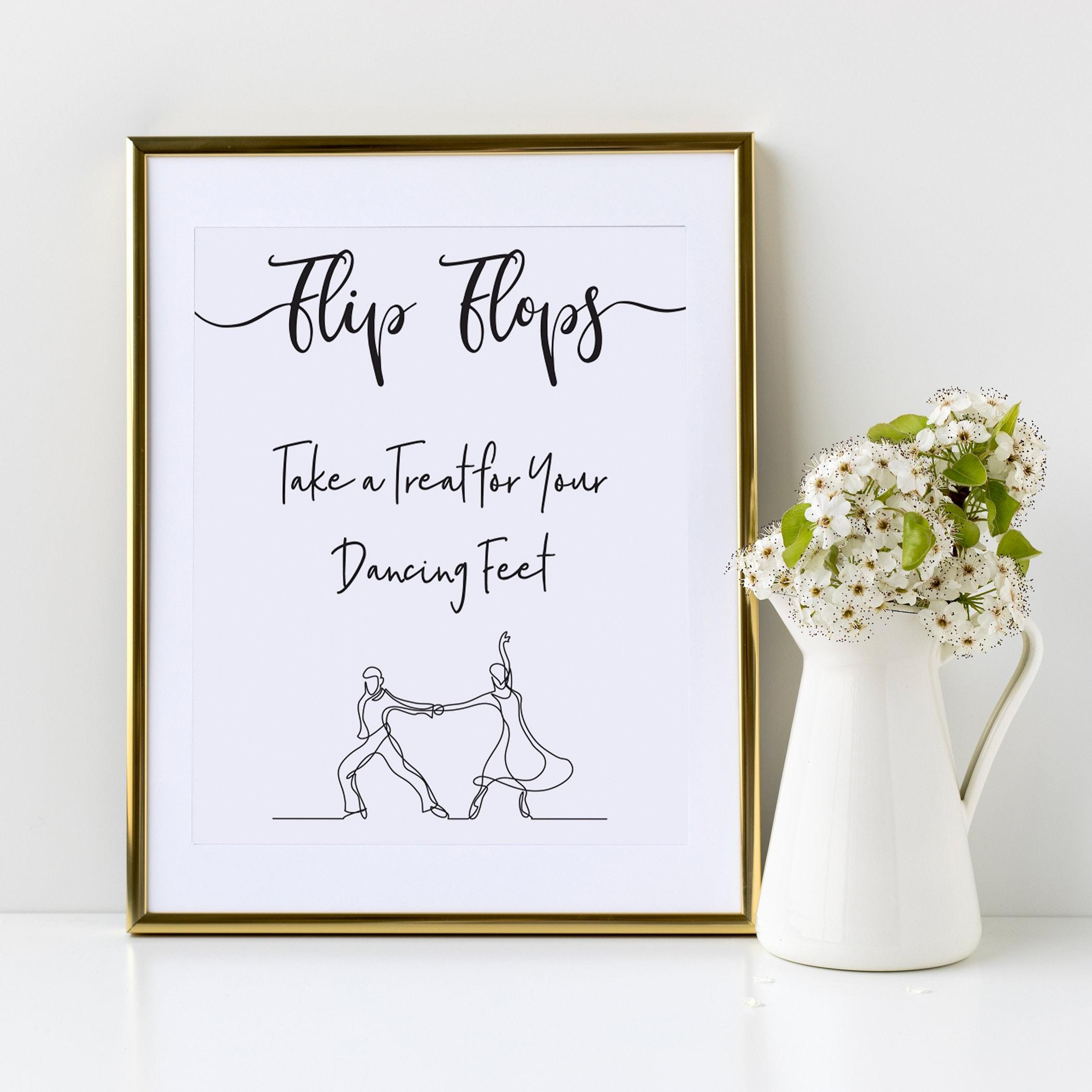 d95ecd7c0b38ae Flip Flops Wedding sign
