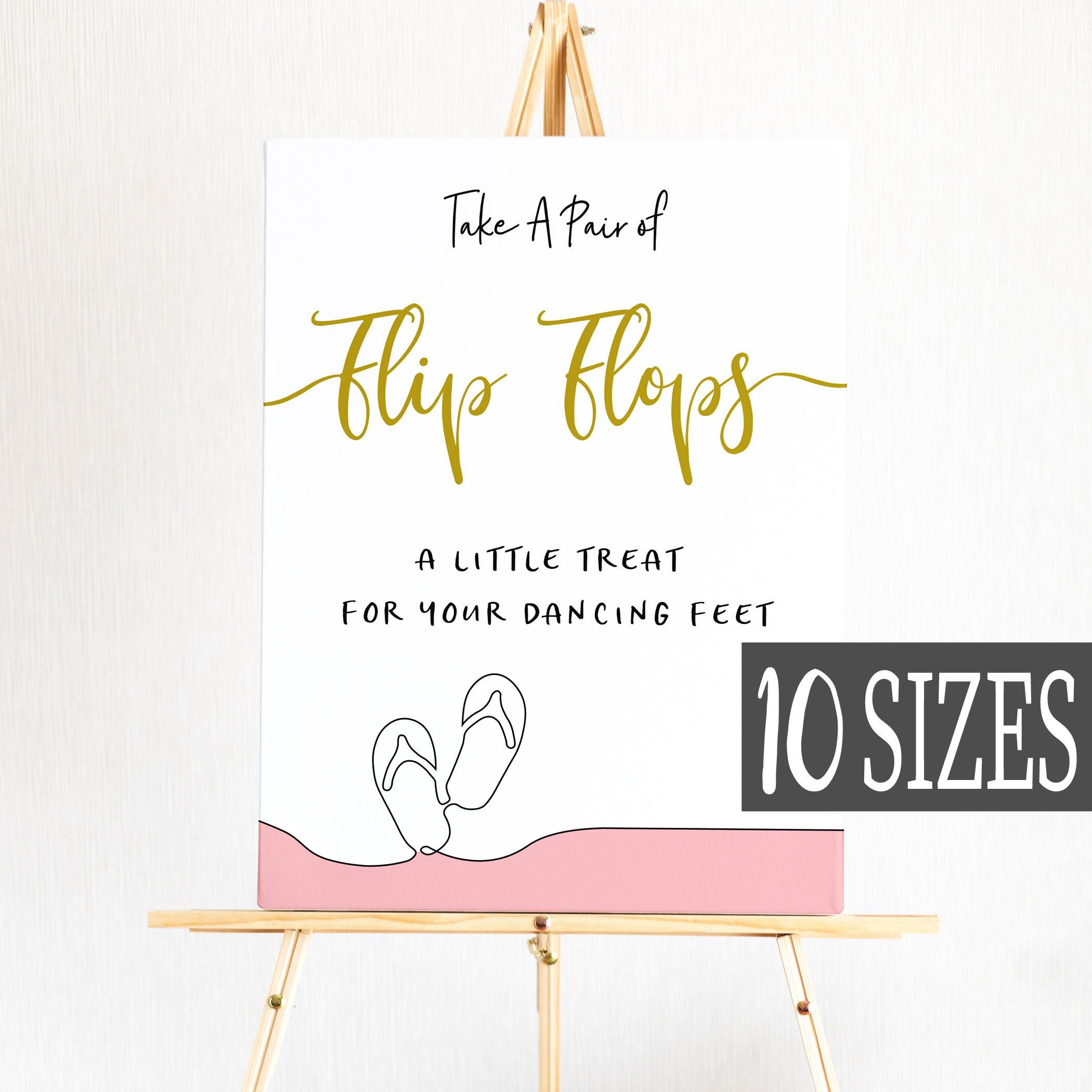 fd7507748fb52a Pink Flip Flops Wedding sign