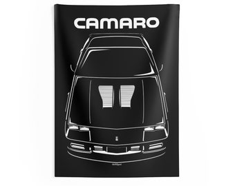 Chevrolet Camaro 3rd gen 1982-1992 - Wall Tapestry - LT1 IROC-Z SS Z28 Camaro - Man Cave Wall Art Garage Tapestries Gifts for Car Lovers
