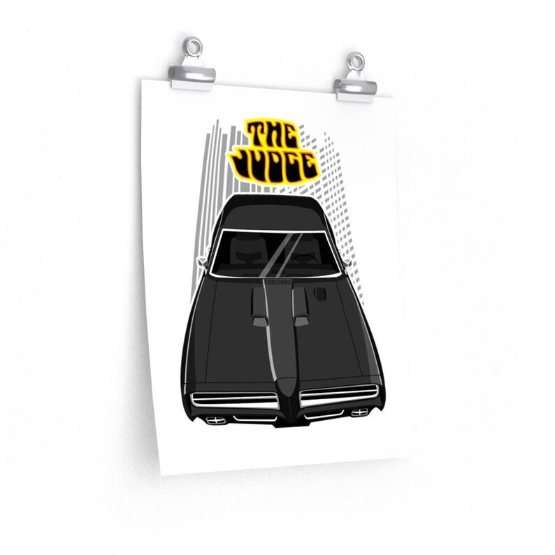Pontiac GTO The Judge Poster  Black GTO poster Car print GTO gift