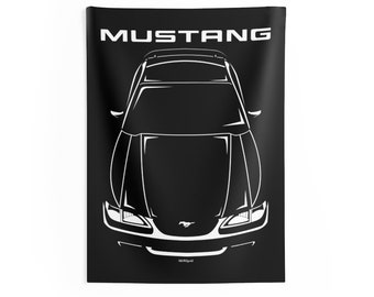 Ford Mustang SN95 1994-1998 - Wall Tapestry - Mustang GT Gifts - Man Cave Wall Art Garage Tapestries Gifts for Car Lovers