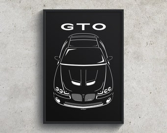 Pontiac GTO 2004-2006 Poster, GTO Wall Art Gifts, American Muscles Print - Car Guy Gift - Gifts for Him - Man Cave Decor - Auto Art