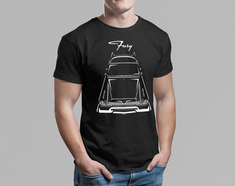 Plymouth Fury 1957-1958 - Multi-color T-shirt - 57-58 Plymouth Fury Shirt - Car Enthusiast Gifts - Cars Gift - Racing Shirts Car Tees