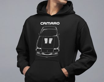 Chevrolet Camaro 3rd gen 1982-1992 Multi-color Hoodie - Iroc Hooded Sweatshirt - Car Hoodies - Gifts for Car Enthusiasts - Cars Gift