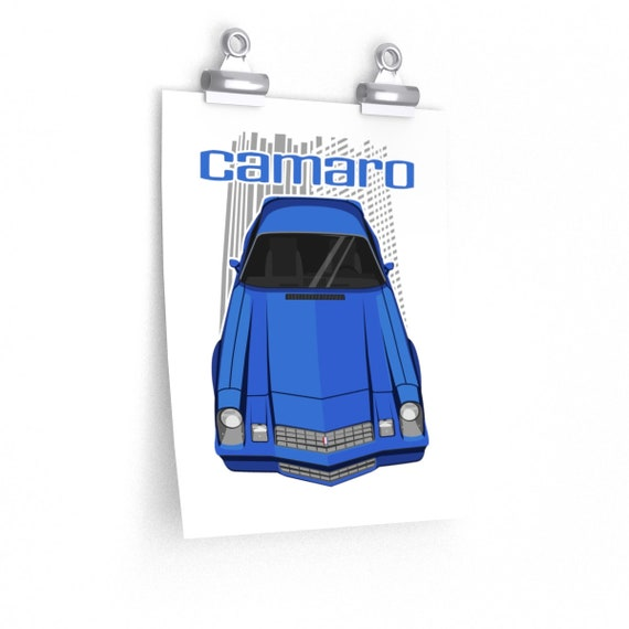 Custom Camaro 2nd gen 1977 to 1981 Poster - dark blue