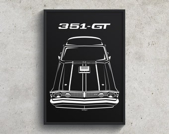 Ford Falcon XY GTHO Phase 3 Poster, Falcon Garage Decor Wall Art Gifts Print - Car Guy Gift - Gifts for Him - Man Cave Decor - Auto Art