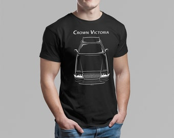 Ford Crown Victoria Police Interceptor - Multi-color T-shirt - Crown Vic Shirt - Car Enthusiast Gifts - Cars Gift - Racing Shirts Car Tees