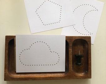 Push Pin Poke Montessori Fine Motor Skills Printable cards