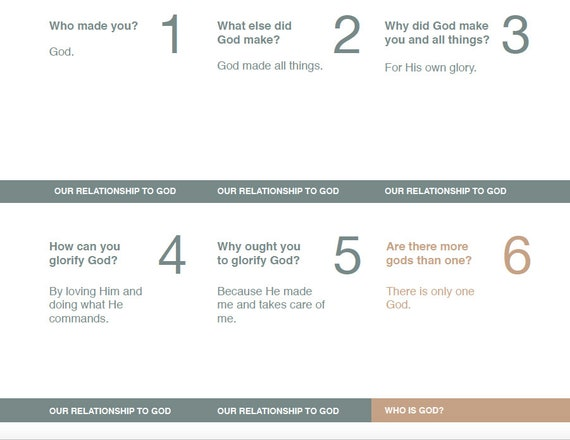 Catechism for Young Children Printable Cards