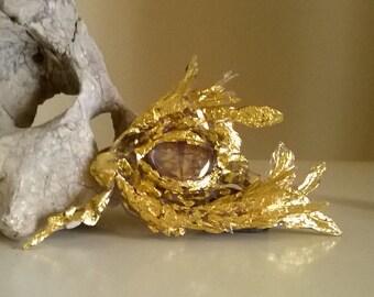 Bling Bling Drache 3D Kristalle Gold Schuppen Schlüsselanhänger