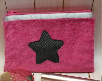Pouch, pink and Star