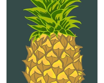 Pineapple | Postcard | 4x6