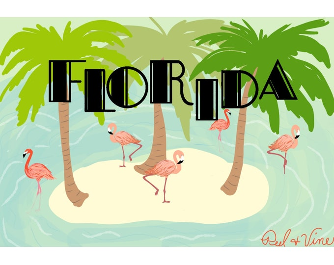 Florida Flamingo | Postcard | 4x6