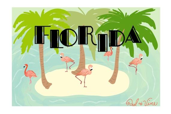 Florida Flamingo | Postcard | 4x6