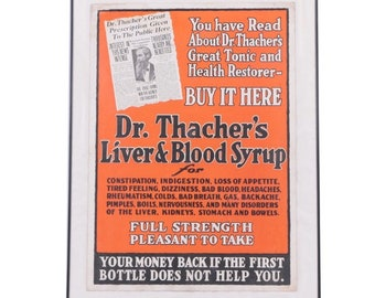 Dr. Thatcher's Liver & Blood Syrup (Including 3rd Party Appraisal)