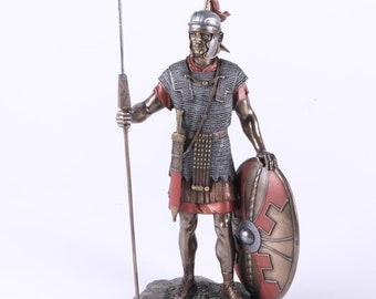 Roman Warrior with Sheild and Spear Statue by Top Land Trading- Top Collection