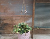Pink ceramic hanging planter- handmade ceramuc planter - wedding gifts - Gifts -homewares - indoor planter