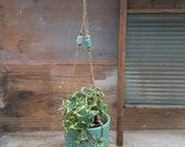 Jade ceramic hanging planter- handmade ceramuc planter - wedding gifts - Gifts -homewares - indoor planter