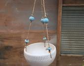 White ceramic hanging planter- handmade ceramuc planter - wedding gifts - Gifts -homewares