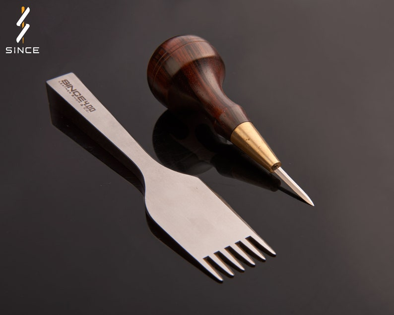 Japanese Style Leather sewing Awl Stitching Awl Lacing awl Since leather  craft tools