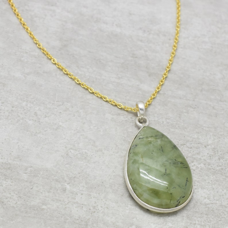 women jewelry women gifts for her gold plated necklaces Smoky and Prehnite gemstone women accessory,Free Shipping Brass necklaces