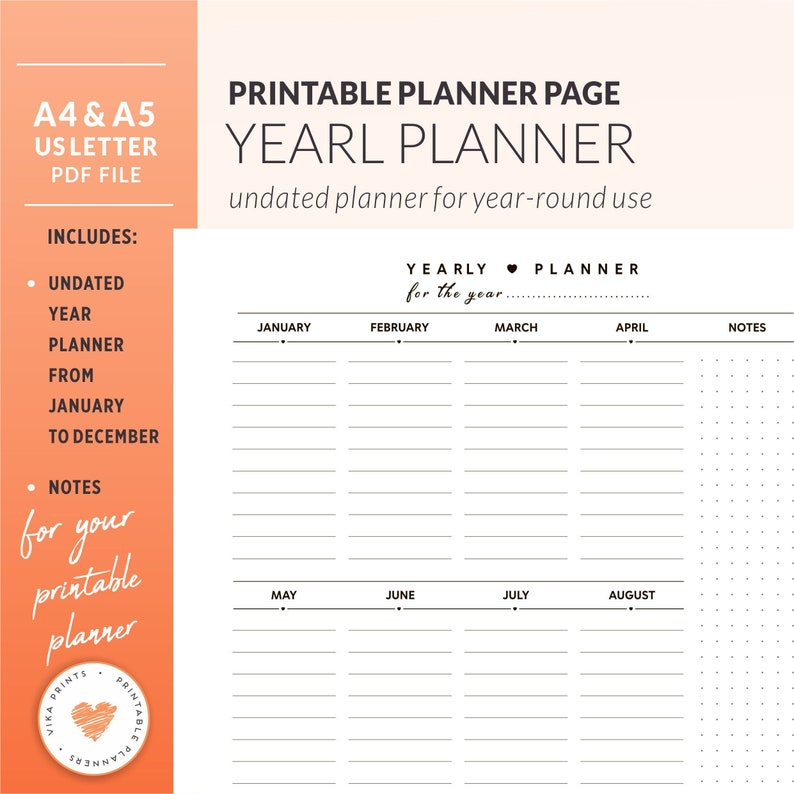 picture about Cute Planner Refills referred to as 2019 Every year planner, 2019 Planner refill Planner inserts A5, Undated calendar year planner, Any 12 months planner, Vertical planner, Lovely planner inserts