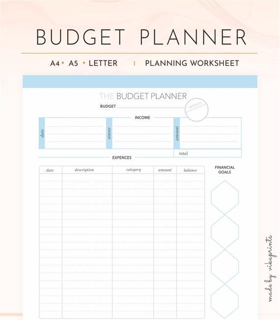 budget planner printable budget worksheet budget tracker