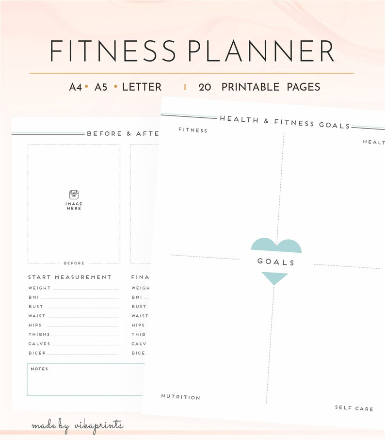 picture about Fitness Planner Printable identified as Physical fitness planner printable, physical fitness magazine, physical fitness planner, exercise routine dinner planner, calorie tracker, excess weight reduction, a4 a5 letter