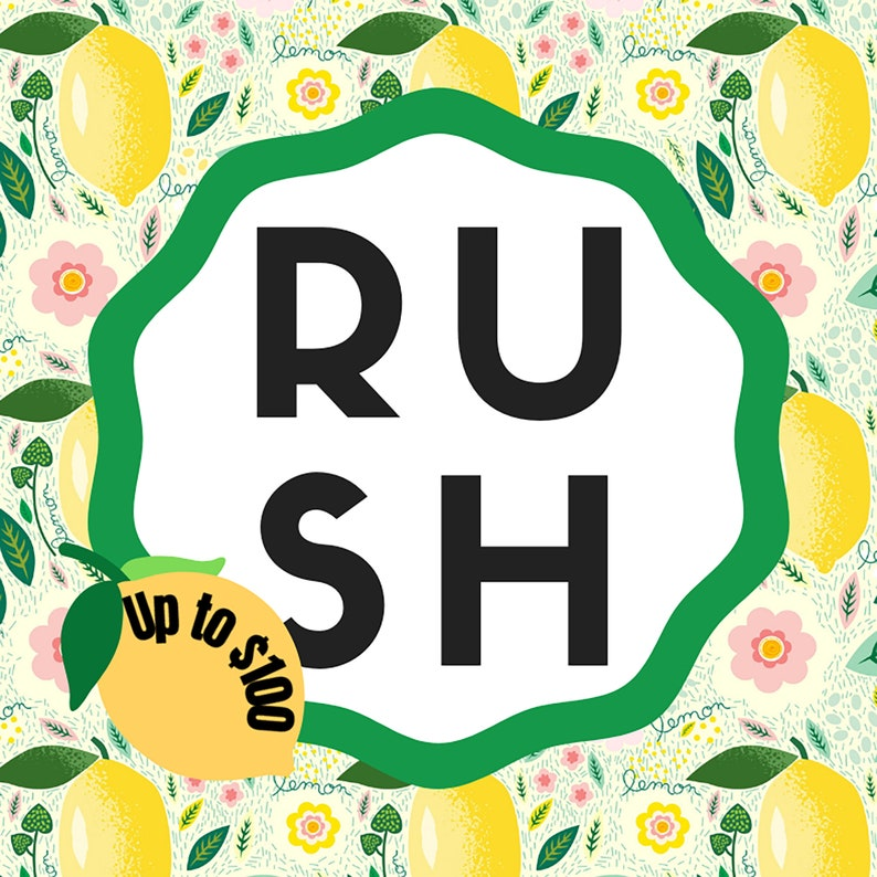 Processing Rush My Order Orders Under 100