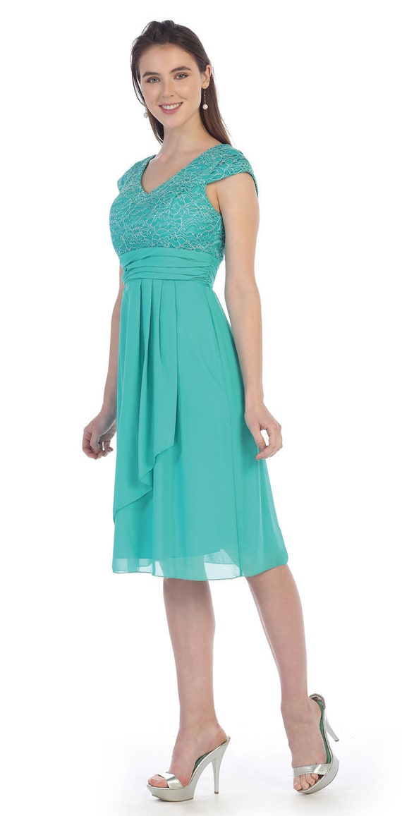 Turquoise Dresses Bridesmaid Dress Plus Size Dress Etsy