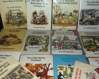 Witchcraft books etsy the little witchs books from 1960s 1 book your choice book of games toys thanksgiving or christmas fandeluxe Gallery