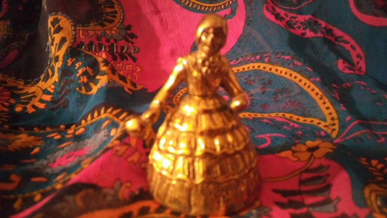 Hoodoo-Belle Bell Respect Spell!! Beautiful Brass Lady Bell and My Handmade  Hoodoo