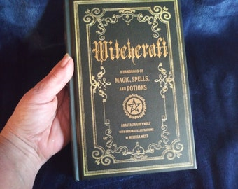 In Stock-SALE-Was 28.00 Not Wicca! Witchcraft A Handbook of Magic, Spells and Potions-Dark Witchcraft-Black Magic