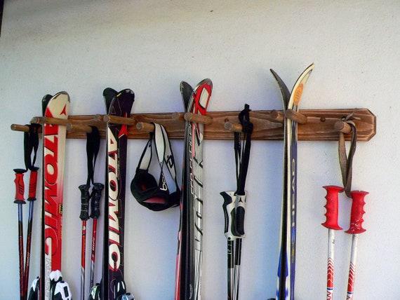 Support De Ski Vertical Monte Au Mur Porte Ski Rangement De Etsy
