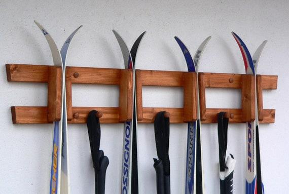 Wall Mounted Wooden Rack For Crosscountry Skis Ski Rack Ski Etsy