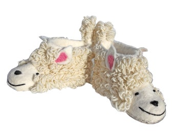 Merry Sheep Wool Felted Nepalese Slippers